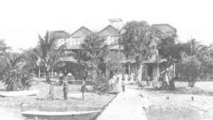 The Cocoanut Grove House on Lake Worth, ca. 1890. This was Palm Beach's first hotel. Courtesy HSPBC.
